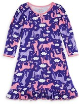 Sara's Prints Girls' Flying Unicorn Nightgown - Sizes 2-7