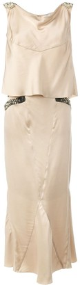 Chanel Pre Owned Bead Embellished Two Piece Suit