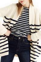 J.Crew J. CREW Stripe Long Open Cardigan