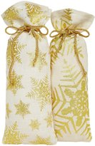 Twos Company Two's Company Snowflake Bottle Bag - Assorted Designs - 1 pc