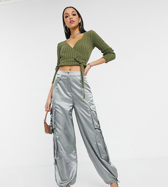 Asos Tall ASOS DESIGN Tall satin combat with strapping