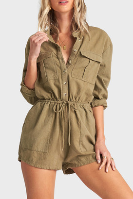 Billabong Wake The Night Button-Down Romper