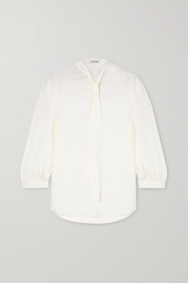 Off-White Cefinn - Willow Pussy-bow Leopard-jacquard Shirt