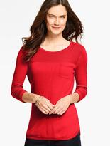 Talbots Curved-Hem Sweater