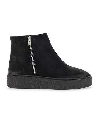 Simply Be Paula Suede Flatform Boots Wide Fit