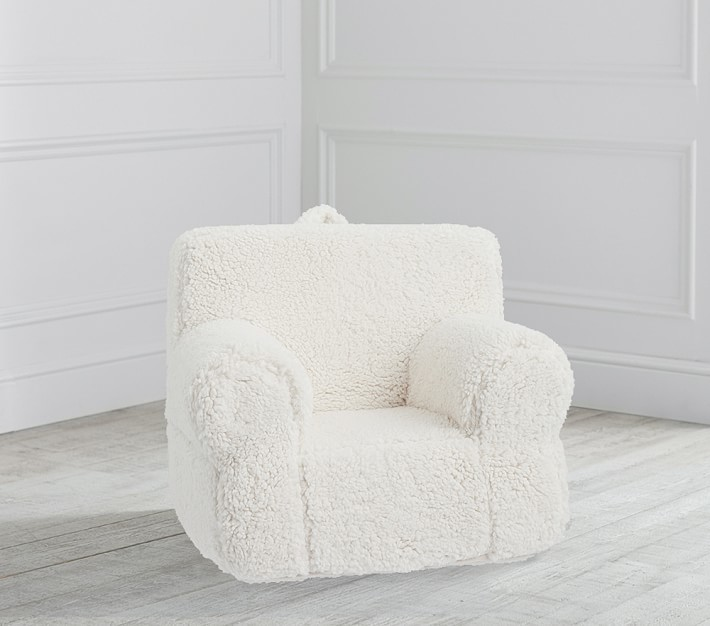 Pottery Barn Kids My First Cream Sherpa Anywhere Chair