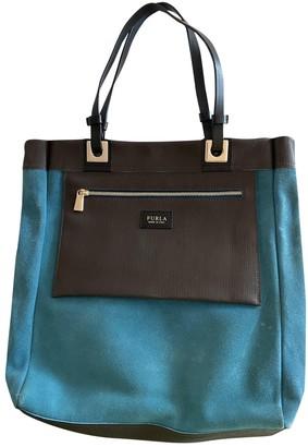 Furla Blue Suede Handbags