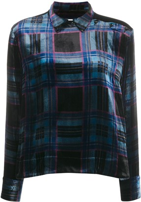 YMC Tartan Velvet Shirt