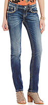 Miss Me Cross Pocket Stretch Straight-Leg Jeans