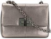 Tom Ford metallic flap shoulder bag - women - Calf Leather/Karung - One Size