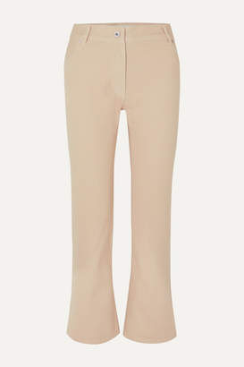 Off-White Off White Cropped Straight-leg Jeans - Cream