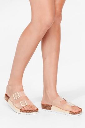 Nasty Gal Womens Walk It Talk It Buckle Sandals - Beige