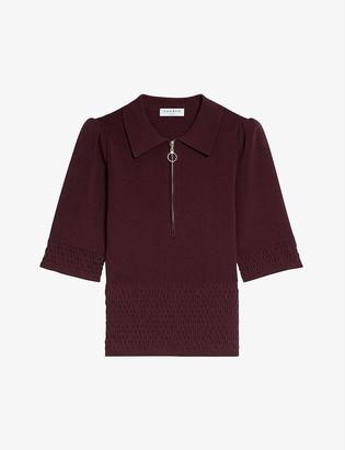 Sandro Nami embellished woven top