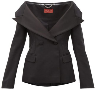 Altuzarra Darlene Off-the-shoulder Wool-blend Jacket - Black