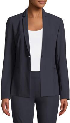 Elie Tahari Darcy One-Button Stretch-Wool Jacket
