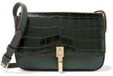 Elizabeth and James Cynnie Micro Croc-effect And Leather Shoulder Bag - Dark green