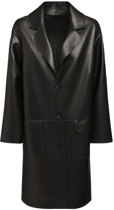 Ermanno Scervino Faux Leather Trench Coat