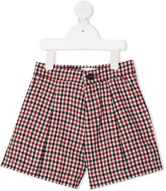 Chloé Kids Gingham Print Shorts