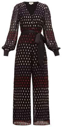 Temperley London Wendy Sequinned Balloon-sleeve Jumpsuit - Womens - Multi