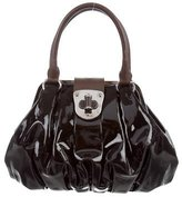 Alexander McQueen Patent Leather Elvie Bag