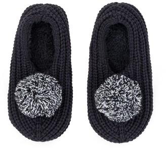 Verloop Pommed Rib Slippers Black S/M