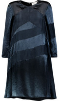 Sonia Rykiel Satin-Crepe Paneled Mini Dress