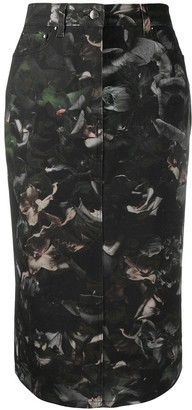 Paul Smith Floral-Print Pencil Skirt