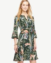 Ann Taylor Reed Garden Fluted Sleeve Dress
