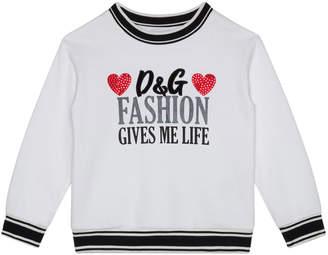Dolce & Gabbana Girl's Fashion Gives Me Life Sweatshirt, Size 4-6