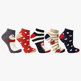 John Lewis Penguin Ankle Socks, Pack Of 5, Multi