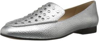 The Fix Amazon Brand Women's Dakoda Silver Flat Head Stud Loafer