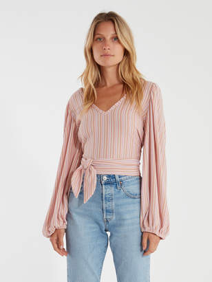 Free People Autumn Nights Back Wrap Top
