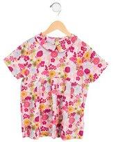 Jacadi Girls' Floral Pleated Top