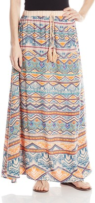 Angie Women's Juniors Maxi Skirt
