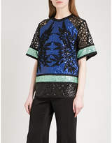 Elie Saab Sequinned-panel top