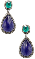 Amrapali 18K Yellow Gold, Emerald, Tanzanite & 1.45 Total Ct. Diamond Drop Earrings