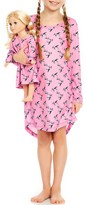 Leveret Horse Nightgown & Matching Doll Nightgown (Toddler, Little Girls, & Big Girls)