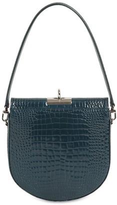 Gu_de Demilune Croc Embossed Leather Bag