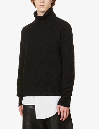 Acne Studios Nyran turtleneck wool and cashmere-blend jumper