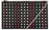 Very Colour Pop Studded Pouch Clutch Bag In Black Multi