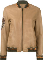 Mr & Mrs Italy - sleeve patch jacket - women - Cotton/Sheep Skin/Shearling/Polyester - XXS