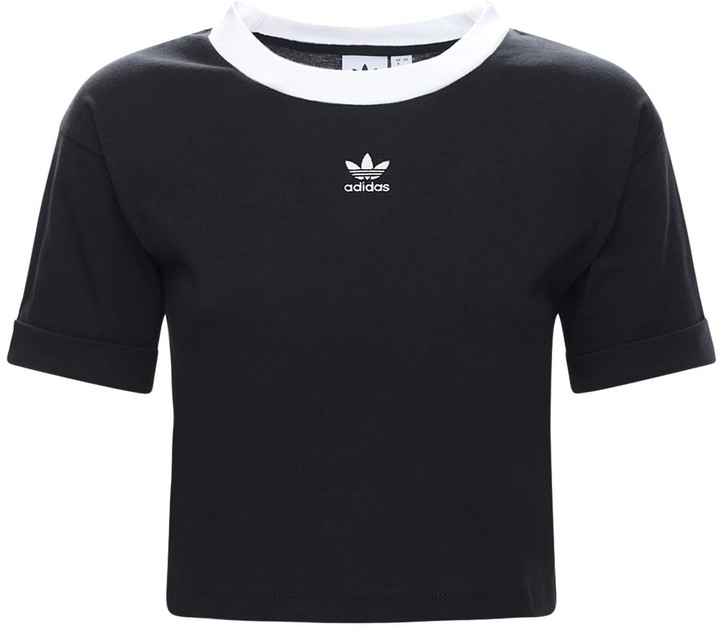 adidas Logo Cotton Crop Top