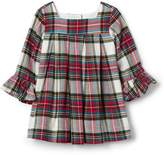 Gap Plaid flannel ruffle dress