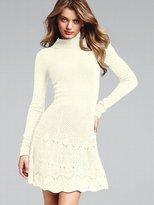Turtleneck Flared Sweaterdress