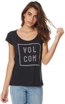 Volcom Lights Out Rad Womens Tee Black