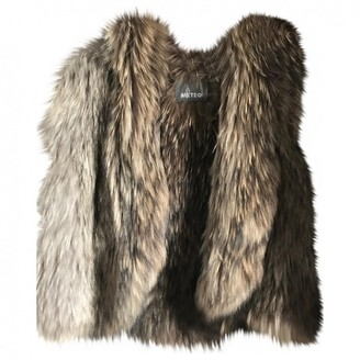 Meteo Beige Fur Jacket for Women