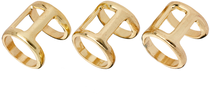 Asos Pack of Three Double Bar Rings