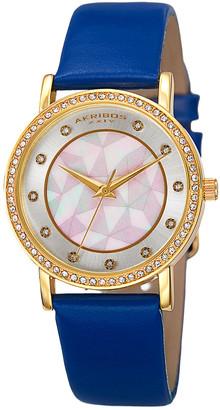 Akribos XXIV Women's Leather Watch