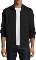 Burberry Sheltone Front-Zip Sweatshirt, Black