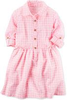 Carter's Gingham Shirtdress, Little Girls (2-6X)